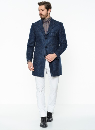 Klasik Yün Palto-Daffari